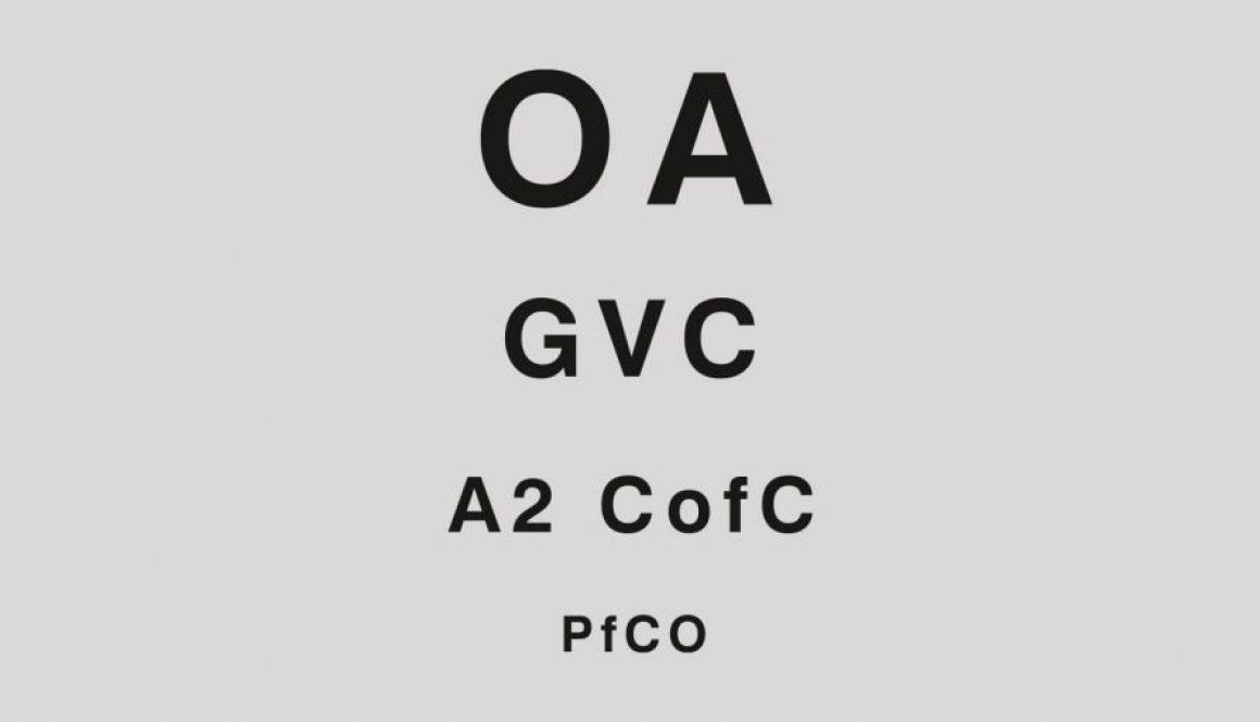 PfCO, OA, A2 CofC, GVC